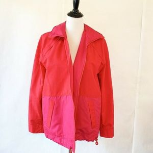 Escada Sport Jacket Red Pink Zip Up Hooded Med